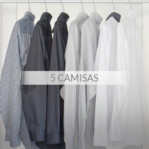 Tintorería - Pack 5 camisas